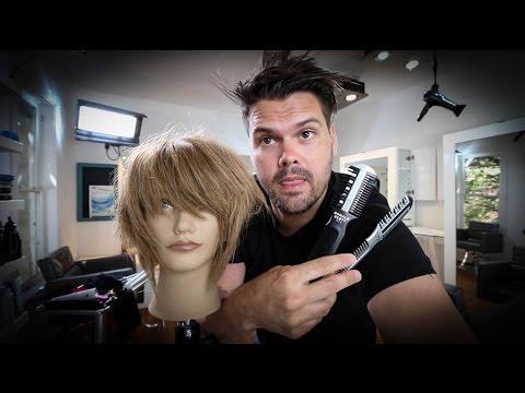 Short Layered Bob Haircut Tutorial With a Razor – Haircutting Tricks w/ a Razor | MATT BECK VLOG 54