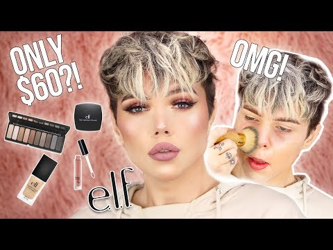 FULL FACE USING ONLY E.L.F. COSMETICS! OMG! | Thomas Halbert