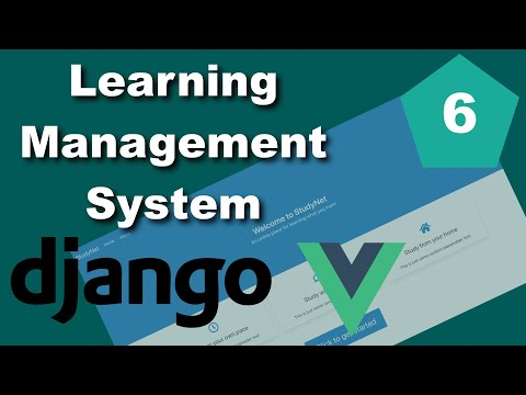 Django and Vue Learning Management System (LMS) Tutorial - Part 6 - Lessons thumbnail