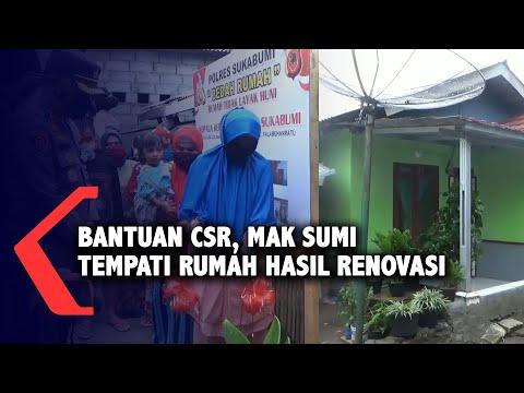 Bantuan CSR Mak Sumi Tempati Rumah Hasil Renovasi