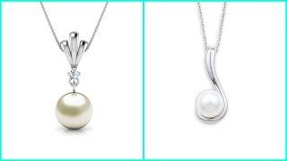 Tear Drop Pearl Platinum Pendant Chain Design