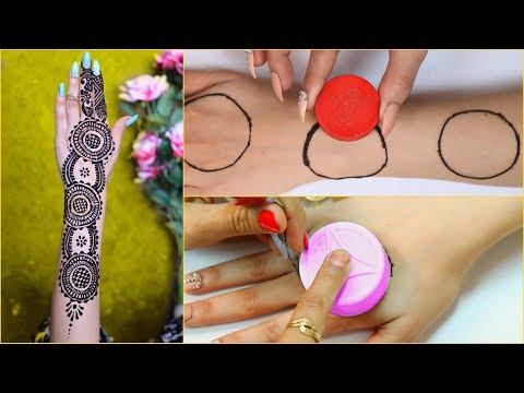 Bottle Cap HACK से लगाएं Perfect Wedding Mehendi/Henna   #Anaysa #DIYQueen