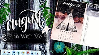 PLAN WITH ME | August 2018 Bullet Journal + July Flip Through