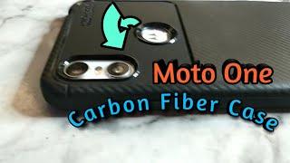 Motorola Moto One Case,Carbon fiber design Case