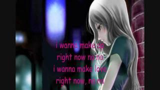 Right now (female version) with lyrics..