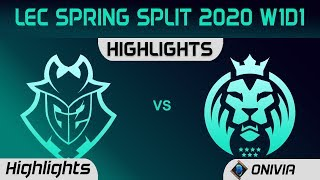 G2 vs MAD Highlights LEC Spring 2020 W1D1 G2 Esports vs MAD Lions LEC Highlights 2020 by Onivia