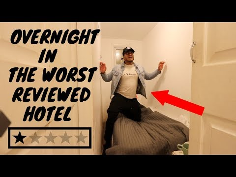Staying 24 HOURS At The WORST REVIEWED HOTEL In My City (London)