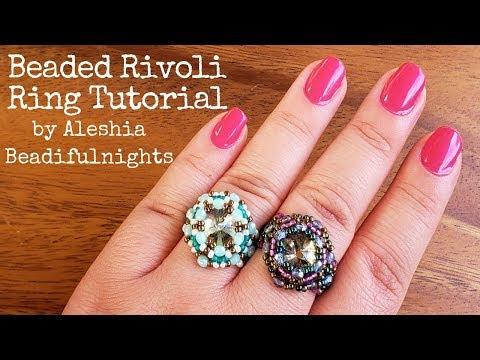 Beaded Rivoli Ring Tutorial