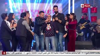 خالد عليش يشعل الأستديو بموهبته الجديدة وسط رقص ريهام سعيد و شريف مدكور