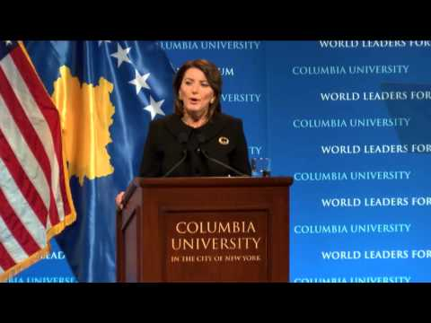 President Atifete Jahjaga, of the Republic of Kosovo - Columbia World Leaders Forum