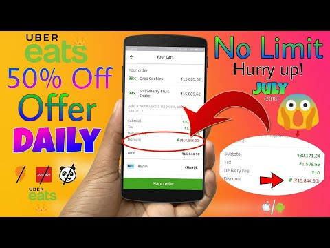 Get Flat 50% off on any food you order on Uber Eats (No order Limit) 😍 (How to) - JULY 2018