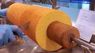 Amazing 23-Layered Butter Cake (Tree Ring Cake), Baumkuchen / 23겹 쌀케이크