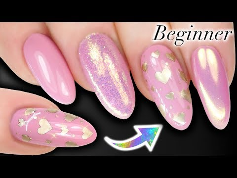 NAIL ART FOR BEGINNERS - HOW TO PAINT VALENTINES HEARTS ON NAILS (Skills Building)