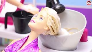 ละครบาร์บี้ ตอน ร้านเสริมสวย เจ้สวยซาลอน  Barbie Doll Hair Style Salon