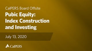 Public Equity: Index Construction and Investing | July 13, 2020