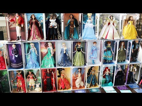 Disney Limited Edition Dolls Collection Tour - All 37 Of Them! March 2018