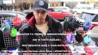 A-THUG+Safaree Robbed Angie Martinez +Nicki Minaj+MEGASTAR LOVE +NYC +MEGASTARCLOTHING+MEGASTARTV