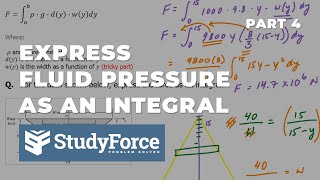 📚 How to express fluid pressure force as an integral (Part 4, Triangle Dam)