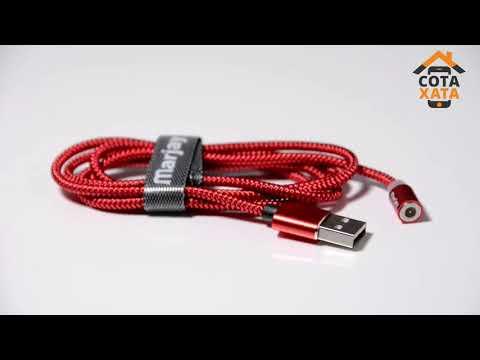 Магнитный кабель USB + магнитный переходник Type-C 2m Marjay - Black