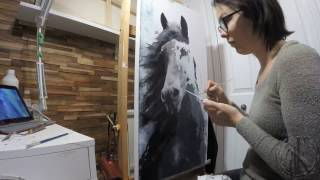 Speed Painting Horse Art Oil Painting Contemporary Equine IX Fanny Duhaime