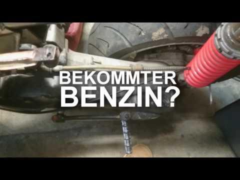 Der Ersatz des Lämpchens im Sensor des Benzins
