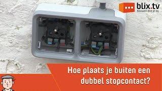 Hoe plaats je buiten een dubbel stopcontact
