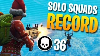 36 KILLS SOLO Vs. SQUADS Personal Record (Fortnite Battle Royale)