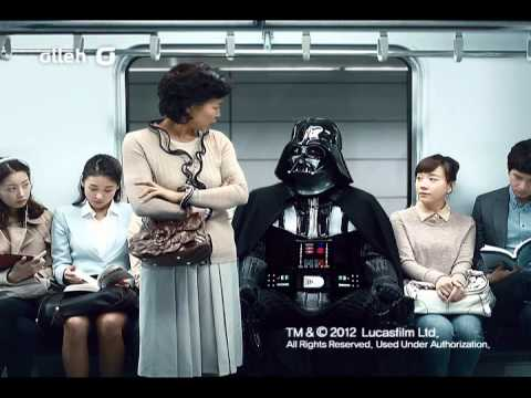 Darth Vader Reduced To Doing Korean Ads, Warping Into The Women's Restroom