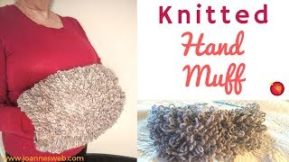 Knitted Hand Muff - Manchon With Knitcrate