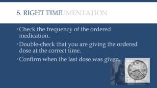 8 Rights of Medication Administration