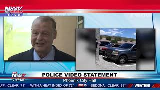 PHOENIX PD VIRAL VIDEO: Family, representatives hold newser outside city hall