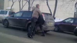 Драка водителей в пробке