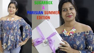 SUGARBOX UNBOXING & REVIEW( May 2018) -  A PARISIAN SUMMER EDITION || Indian Vlogger Soumali