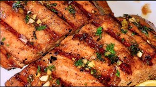 Marinated Grilled Salmon  How to make Grilled Salmon