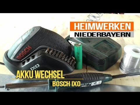 Akku wechseln beim Bosch Ixo