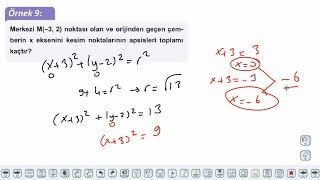 Eğitim Vadisi AYT Geometri 10.Föy Analitik Geometri Konu Anlatım Videoları