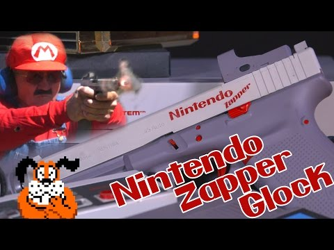 Nintendo DuckHunt Zapper Gun for real with a Glock