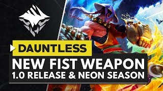 DAUNTLESS | New Aether Strikers Weapon, Official 1.0 Launch & Neon Skies Round Up