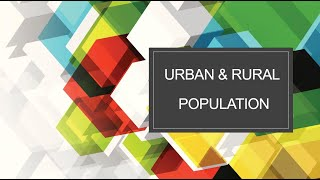 Urban & Rural Population |  Pakistan Studies | by Hina Butt