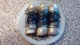 Рулетики из свежемороженой скумбрии рецепт