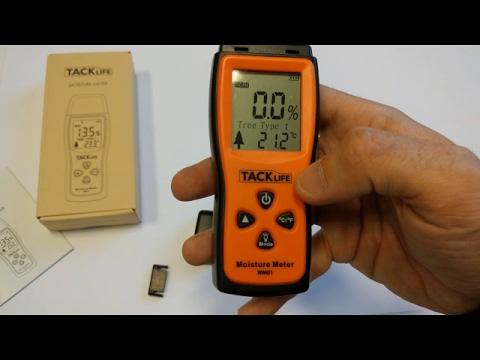 TACKLIFE WM01 Medidor de humedad en madera, papel, cartón, etc.