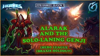 Grubby | Heroes of the Storm - Alarak and the Solo-laning Genji - 2018 S1 - Braxis Holdout