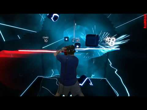 Beat Saber Custom Song - The Force Theme (Far Out Remix) - Expert - Darth Maul Staff Saber style