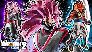NEW SCYTHE CUMBER BLACK GAMEPLAY - Dragon Ball Xenoverse 2 SSJ Rose Kanba Black (ALL CUSTOM)