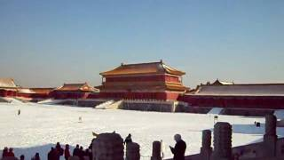 Video : China : The Forbidden City in the snow - video