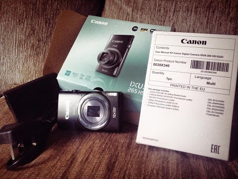 Canon IXUS 265 HS Unboxing & Testing The Photo & Video Function - My New Vlog Camera.