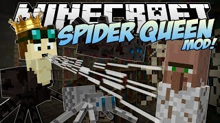 Minecraft   SPIDER QUEEN MOD! (Rule Over a Spider Army!)   Mod Showcase
