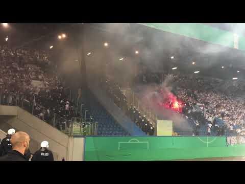 Hansa Rostock - Hertha BSC 14.08.2017 Pyro