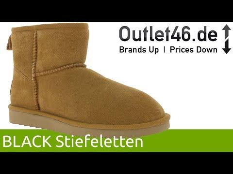 BLACK Echtleder-Boots l Mit weichem Lammfell gefüttert l 360° Video l Outlet46.de