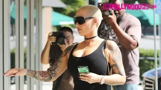 Amber Rose Drives Through Hollywood To Get To Dancing With The Stars Rehearsal Studios 9.8.16